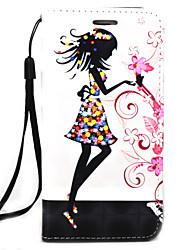preiswerte -CaseMe Hülle Für Samsung Galaxy Geldbeutel / Kreditkartenfächer Ganzkörper-Gehäuse Blume Hart PU-Leder für Note 5 / Note 4 / Note 3
