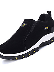 cheap -Running Shoes Men's Sneakers Spring Fall Platform Suede Outdoor Casual Flat Heel Black Yellow Gray