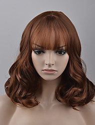 cheap -Synthetic Wig Loose Wave Synthetic Hair Brown Wig Women's Capless