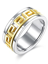 Кольцо Обручальное кольцо Нержавеющая сталь Позолота Классика Мода Золотой Бижутерия Свадьба Для вечеринок Повседневные Спорт 1шт