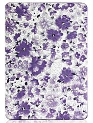 Caixa de couro do plutônio do teste padrão de flor de 6 polegadas com sono para kindle novo (kindle 558)