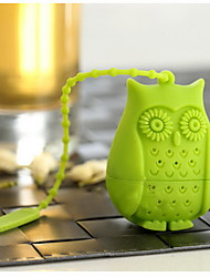 cheap -Owl Shape Loose Leaf Tea Infuser Filter Novelty Perforated Silicone Bird Gift