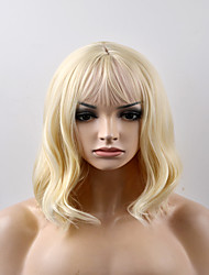 cheap -Women Synthetic Wig Capless Short Natural Wave Golden Blonde Natural Wig Costume Wigs