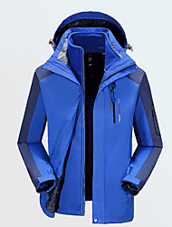 Men's Hiking Jacket Waterproof Windproof Hoodie Windbreaker Softshell Jacket Top for Camping / Hiking Climbing Team Sports Winter