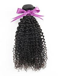 cheap -Mongolian Kinky Curly Human Hair Weaves 1 Piece 0.1