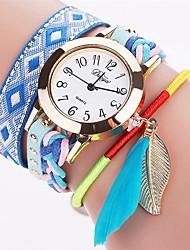 Xu™ Dámské Módní hodinky Náramkové hodinky Křemenný PU Kapela Retro Lístky Běžné nošení Černá Bílá Modrá Červená Hnědá RůžováČerná