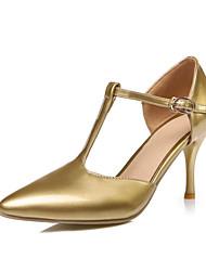 Da donna-Tacchi-Matrimonio Ufficio e lavoro Casual Serata e festa-Plateau-A stiletto-Materiali personalizzati Finta pelle-Oro Bianco Nero