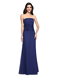 cheap -Sheath / Column Strapless Floor Length Chiffon Open Back Formal Evening Dress with Ruched by TS Couture®