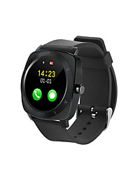 X3 Bluetooth smart watch Silicone Strap phone Wearable Touch Screen Smart Watch w/ Pedometer - black