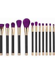 15pcs Makeup Brushes Set Powder Foundation Eyeshadow Eyeliner Lip Contour Concealer Smudge Brush Tool Purple