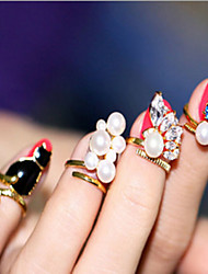 cheap -4Pcs Ring Cat Pearl Nail Nail Joints
