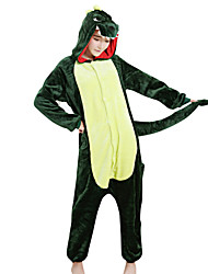 Kigurumi Pajamas Dinosaur Festival/Holiday Animal Sleepwear Halloween Green Patchwork Velvet Mink Kigurumi For Male Female Unisex