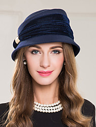cheap -Wool Polyester Alloy Hats Headpiece Classical Feminine Style