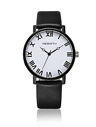 cheap -Women's Fashion Watch / Wrist watch Quartz / Leather Band Casual Black / White Brand