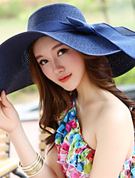 cheap -Women's Holiday Outdoor Straw Hat - Solid Colored