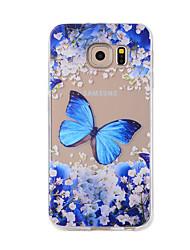 preiswerte -Hülle Für Samsung Galaxy Muster Rückseite Schmetterling Weich TPU für Note 5 / Note 4 / Note 3