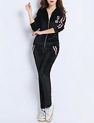 baratos -Mulheres Blusa Conjunto Estampa Colorida Calça