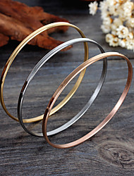 cheap -Women's Bangles Bohemian Friendship Fashion Rose Gold Stainless Steel Gold Plated Jewelry Party Anniversary Birthday Gift Daily Casual
