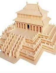 Quebra-cabeças Quebra-Cabeças de Madeira Blocos de construção DIY Brinquedos Arquitetura Chinesa 1 Madeira IvoryModelo e Blocos de