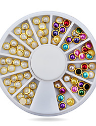 abordables -1pcs Nail Art Decoración Las perlas de diamantes de imitación maquillaje cosmético Nail Art