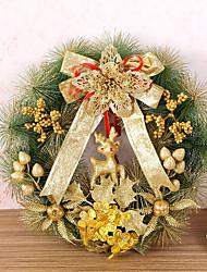 Недорогие -1 шт Рождественский венок хвою рождественские украшения для домашнего диаметра партия 35см NAVIDAD новые поставки год