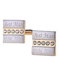 cheap -Zinc Alloy Cufflinks & Tie Clips Groom Groomsman Ring Bearer Wedding Anniversary Birthday Congratulations Graduation Thank You Business