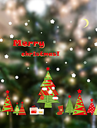 Wall Stickers Wall Decals Style Colorful Christmas Tree PVC Wall Stickers