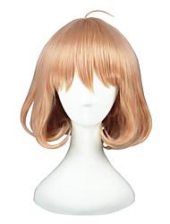 economico -Parrucche Cosplay Puella Magi Madoka Magica Akari Rosa Corto Anime Parrucche Cosplay 35 CM Tessuno resistente a calore unisex