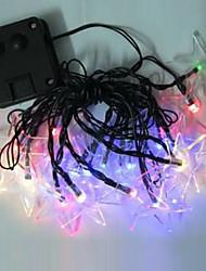 1pc 4,8 20led solenergi string lys til ferie part bryllup førte christmas belysning