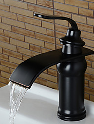 cheap -Bathroom Sink Faucet - Waterfall Oil-rubbed Bronze Widespread Single Handle One Hole