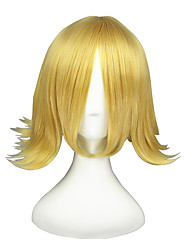 VocAloid-Rin Kagamine Gold 18inch Anime Cosplay Wig CS-079A