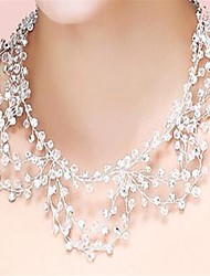 cheap -Women's Crystal - Imitation Diamond Tassel, Handmade, Bridal Transparent Necklace Jewelry For Wedding, Party