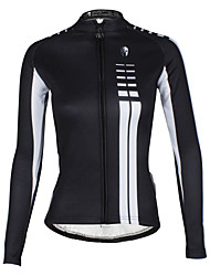 cheap -ILPALADINO Cycling Jersey Women's Long Sleeves Bike Jersey Waterproof Thermal / Warm Windproof Fleece Lining Insulated Breathable