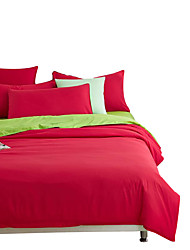 Mingjie Wonderful Red and Green Bedding Sets 4PCS for Twin Full Queen King Size from China Contian 1 Duvet Cover 1 Flatsheet 2 Pillowcases