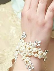 preiswerte -Damen Ketten- & Glieder-Armbänder Kristall Handgemacht Perle Künstliche Perle Strass Schmuck Hochzeit Verlobung Modeschmuck