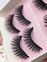 cheap -Eyelashes lash Full Strip Lashes Eyes Thick Lifted lashes Volumized Handmade Fiber Black Band 0.10mm 13mm
