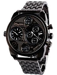 Oulm Pánské Vojenské hodinky Náramkové hodinky Křemenný Hodinky s dvojitým časem Slitina Kapela Retro Cool Běžné nošení Černá Brązowy