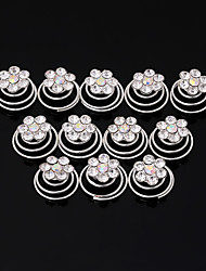 Women's Rhinestone Headpiece-Wedding Special Occasion Casual Office & Career Hair Clip Hair Tool 12 Pieces