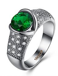 Prsten Kubický zirkon Zirkon Měď Titanová ocel imitace Diamond Zelená Šperky Denní Ležérní 1ks