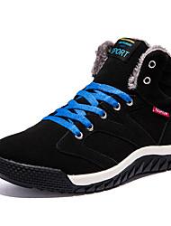 Masculino sapatos Microfibra Inverno Conforto Tênis Cadarço Para Casual Preto Azul Verde Escuro
