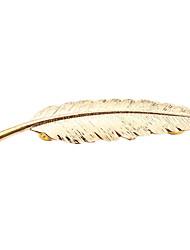 Недорогие -Жен. Длиные Броши - В форме листа европейский Брошь Золотой / Серебряный Назначение Свадьба / Для вечеринок / Повседневные