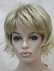 cheap -New Short Wig Choppy Layers Flip Curly With Bangs Womens Wig