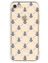 economico -Per iPhone X iPhone 8 Custodie cover Fantasia/disegno Custodia posteriore Custodia Ancora Morbido TPU per Apple iPhone X iPhone 8 Plus