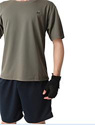 Per uomo T-shirt da corsa Manica corta Asciugatura rapida Comodo T-shirt Set di vestiti per Pesca Esercizi di fitness Attività ricreative