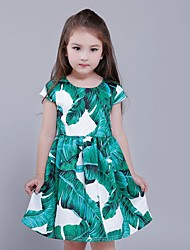 Girl's Going out / Party/Cocktail Patchwork Dress,Polyester Summer Sleeveless