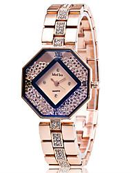 Xu™ Dámské Módní hodinky Křišťálové hodinky Náramkové hodinky Křemenný Slitina Kapela Retro Běžné nošení Zlatá