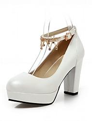 Недорогие -Жен. Обувь Лакированная кожа Микроволокно Весна Лето Удобная обувь Оригинальная обувь Обувь на каблуках Для прогулок На толстом каблуке