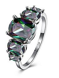 Damen Ring Verlobungsring Mehrfarbig Modeschmuck Zirkon Kubikzirkonia Kupfer Schmuck Für Hochzeit Party Alltag Normal
