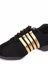 cheap -Women's Modern Shoes Canvas Split Sole / Sneaker Outdoor Low Heel Non Customizable Dance Shoes Black / Purple / Red