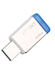abordables -Kingston 64gb digitales USB 3.1 Datos sobre 50, 110 MB / s de lectura, 15 MB / s de escritura (DT50 / 64gb)